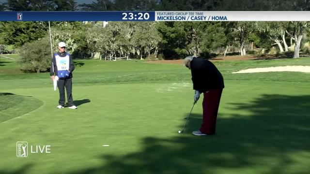 John Daly birdies No. 2 in Round 2 at AT&T Pebble Beach