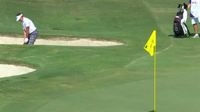 Ian Poulter gets up-and-down for birdie at WGC-FedEx St. Jude
