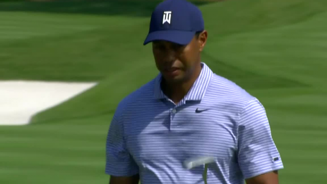 Tiger Woods gets up-and-down for birdie at THE PLAYERS