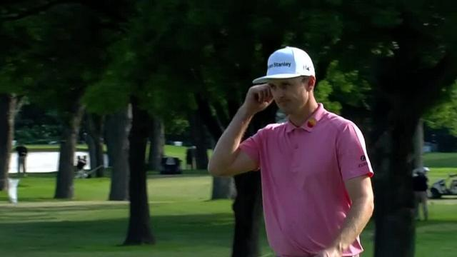 Justin Rose's approach to 5 feet sets up birdie at Charles Schwab
