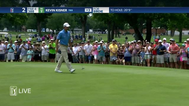 Kevin Kisner's solid birdie putt on No. 2 at Charles Schwab