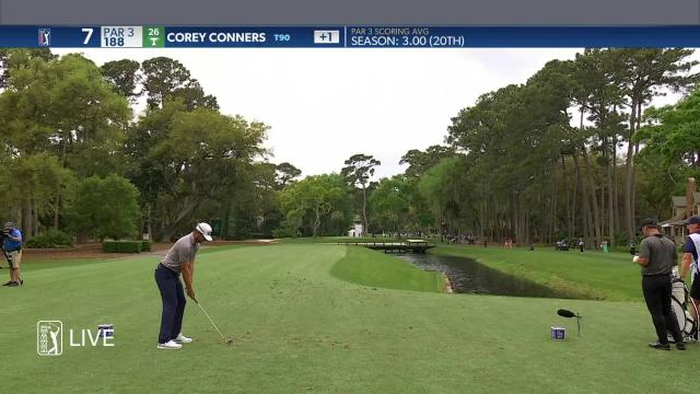 Corey Conners makes birdie on No. 7 in Round 1 at RBC Heritage
