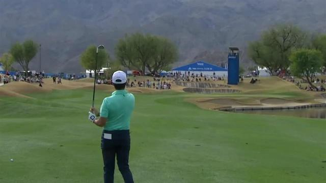Abraham Ancer uses hill to set up birdie at The American Express