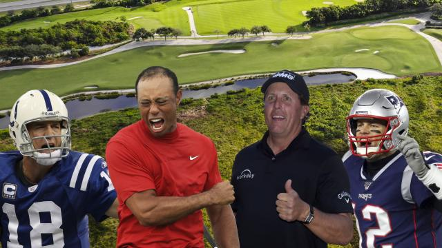 Mic'd up Mashup: Tom Brady, Peyton Manning, Tiger Woods and Phil Mickelson