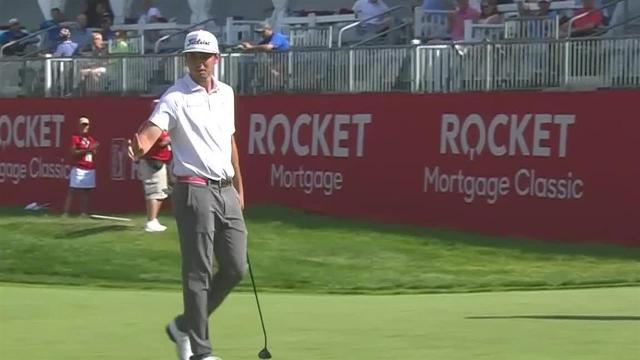 J.T. Poston's approach yields 11-foot birdie putt at Rocket Mortgage