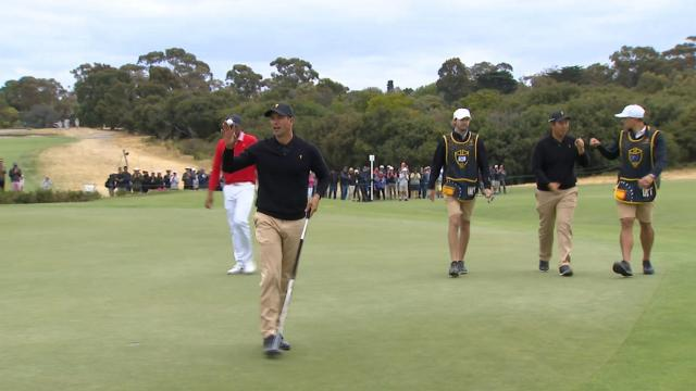 Adam Scott's solid approach sets up birdie putt at the Presidents Cup