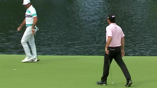 Robert Streb sinks a 29-foot eagle on No. 13 at Travelers