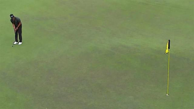 Dominic Bozzelli sinks 30-foot birdie putt at Barbasol