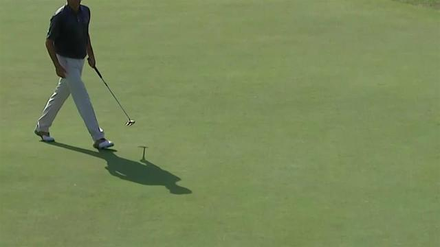Bill Haas makes birdie on No. 16 at Barbasol
