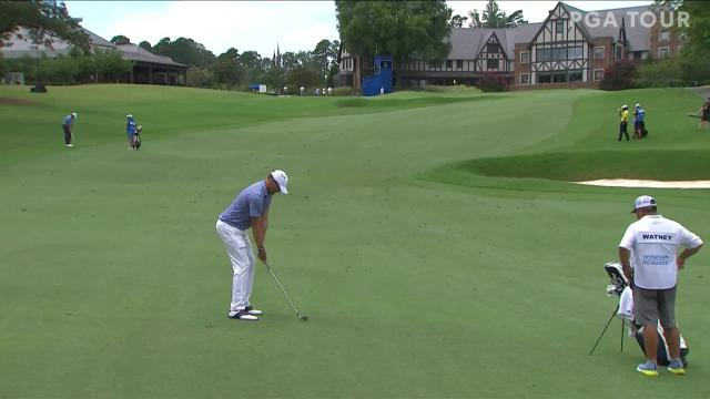 Nick Watney birdies No. 9 in Round 2 at Wyndham