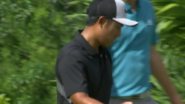 C.T. Pan sinks long birdie putt at Mayakoba