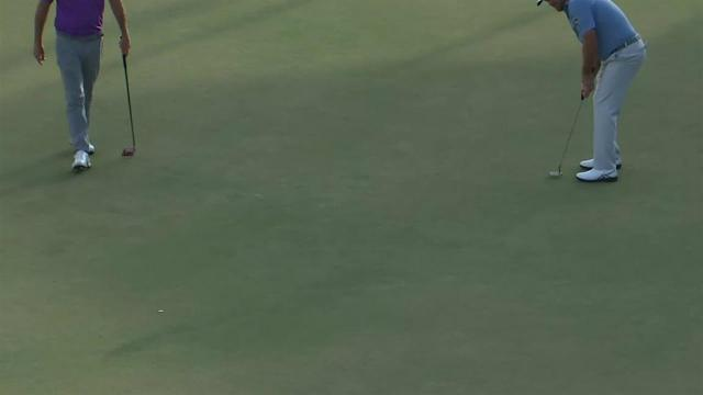 Graeme McDowell birdies No. 18 in Round 1 at Arnold Palmer