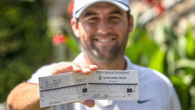 Scheffler Shoots 59, 12th Sub-60 Round on TOUR, Dustin Johnson Leads