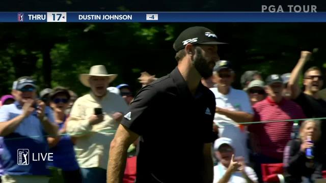 Dustin Johnson sinks 16-footer for birdie at Valspar