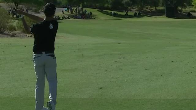 Kevin Na's solid approach sets up 10-foot birdie putt at Shriners