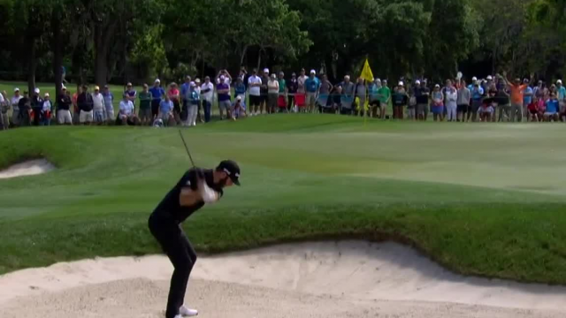 Dustin Johnson gets up-and-down from bunker at Valspar