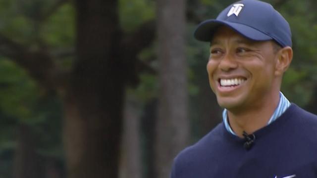 Tiger Woods birdies No. 8 at MGM Resorts The Challenge