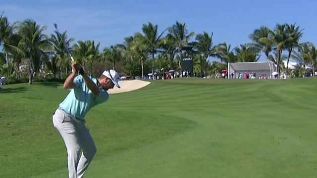 Chris Stroud's approach yields birdie putt at Corales Puntacana