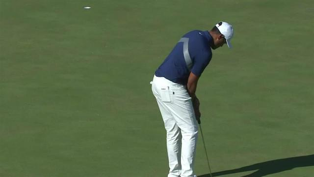 Tony Finau rolls in 31-footer for birdie at Shriners