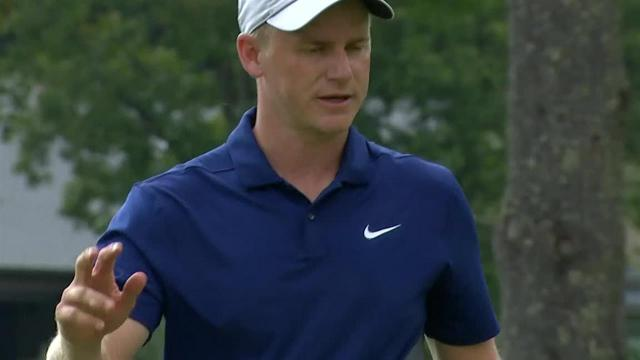 Adam Long's 18-foot birdie putt on No. 10 at The Greenbrier