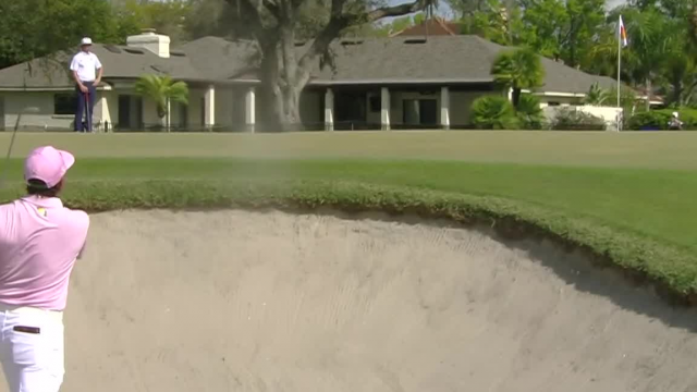 Rickie Fowler gets up-and-down to make birdie from bunker at Arnold Palmer