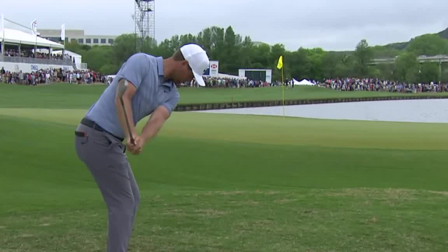Lucas Bjerregaard gets up and down birdie on No. 13 in Round 4 at WGC-Match Play