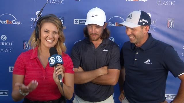 Tommy Fleetwood and Sergio Garcia's interview after Round 3 at Zurich Classic