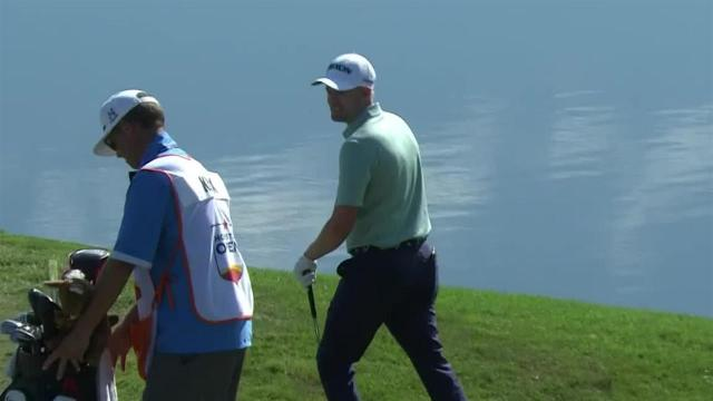 Russell Knox's chip-in par save at Houston Open