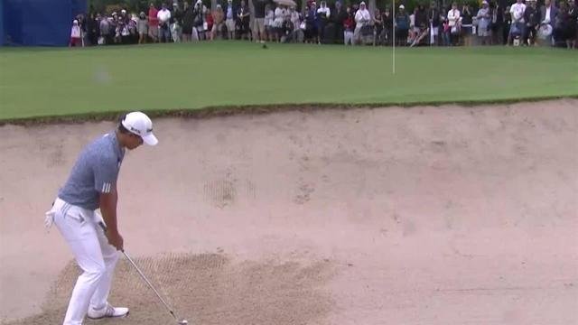 Collin Morikawa gets up-and-down from bunker at the Sony Open