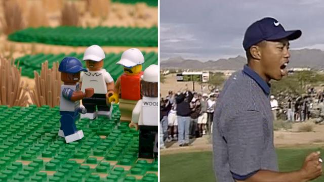 LEGO Tiger Woods' ace on No. 16 at TPC Scottsdale