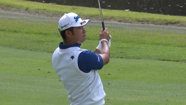 Hideki Matsuyama's solid approach yields birdie putt at ZOZO