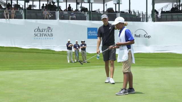 PGA TOUR players team up with The First Tee kids at Charles Schwab