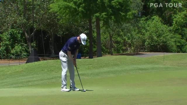 Russel Knox's 121-yard approach sets up birdie at Zurich Classic