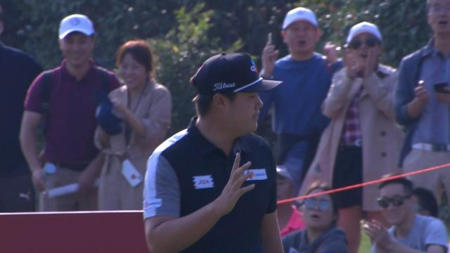 Sungjae Im's clutch chip shot at WGC-HSBC Champions