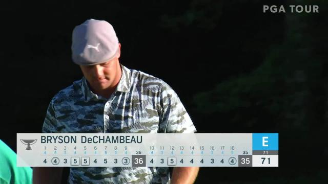 Bryson DeChambeau birdies No. 18 in Round 1 at THE NORTHERN TRUST