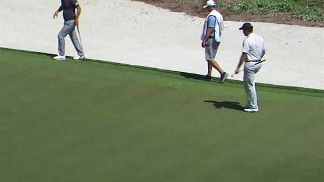Adam Schenk's lengthy birdie putt at THE PLAYERS