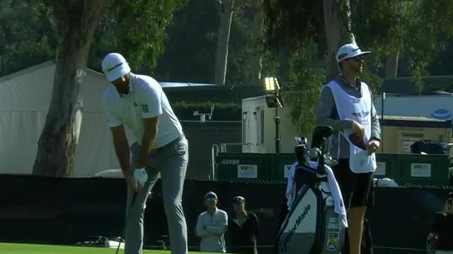 Dustin Johnson's approach to 10 feet leads to birdie at Genesis