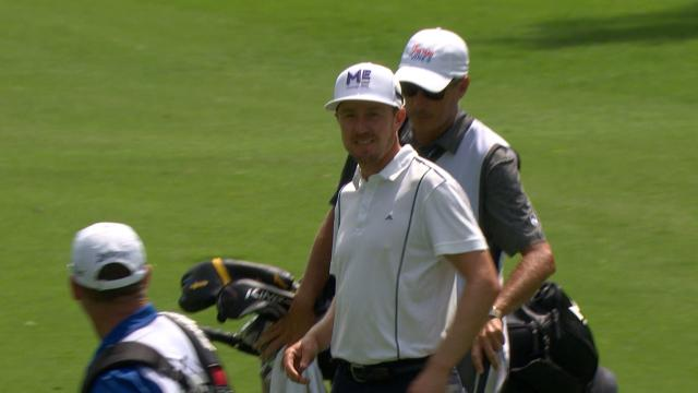 Jonas Blixt holes out for eagle at Charles Schwab