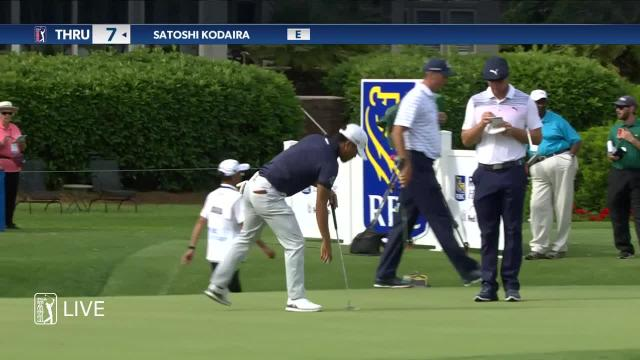 Satoshi Kodaira rolls in 12-footer for birdie at RBC Heritage
