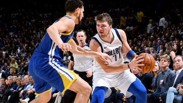 Luka Doncic, Dirk Nowitzki and Mavs roll past Warriors without Steph Curry