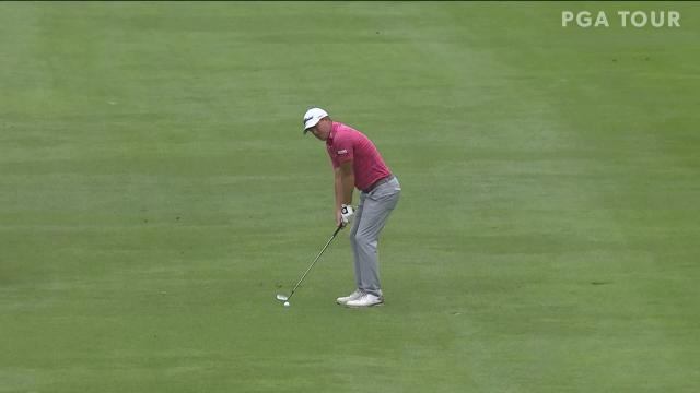 Tom Hoge birdies No. 18 in Round 1 at Safeway Open
