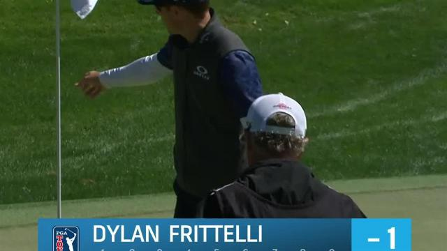 Dylan Frittelli sinks 18-footer for birdie at Arnold Palmer
