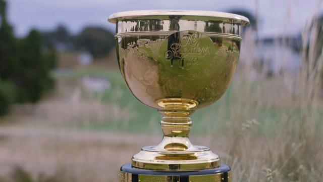The International team hold a three-point lead at the Presidents Cup