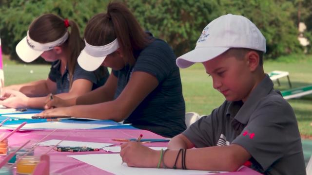First Tee kids surprised by Valspar Championship, FootJoy with custom shoes
