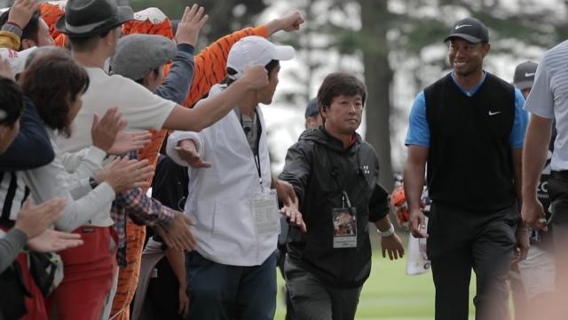 Fans describe Tiger Woods in one word at ZOZO CHAMPIONSHIP