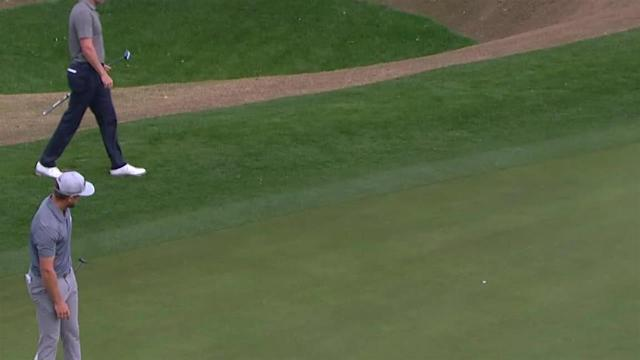 Sebastian Cappelen rolls in 25-foot birdie putt at The American Express