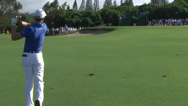 Justin Thomas cards clutch birdie at No. 14 at Sentry