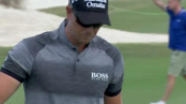 Henrik Stenson's solid birdie putt on No. 13 at Hero