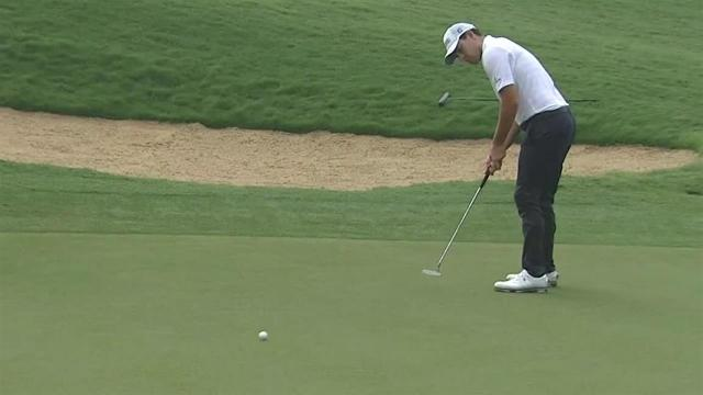 Patrick Cantlay drains 19-footer for birdie at Sentry