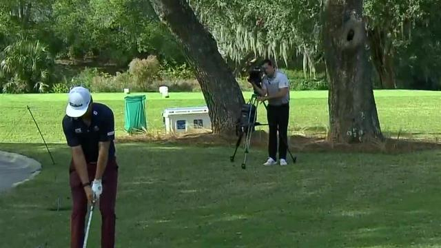 Lanto Griffin's clutch flop shot at The RSM Classic